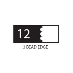 "(SET 3) 1"" COROB LIGHT DUTY MOULDING KNIVES (3 BEAD EDGE)"