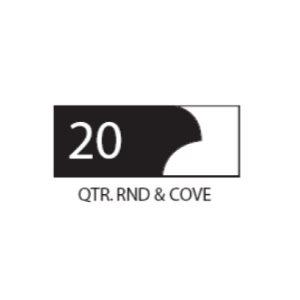 "(SET 3) 1"" COROB LIGHT DUTY MOULDING KNIVES (QUARTER ROUND & COVE)"
