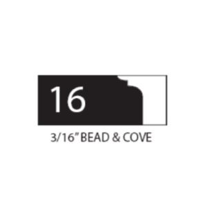 "1"" THICK COROB SHAPER CUTTER (3 / 16"" BEAD & COVE)"