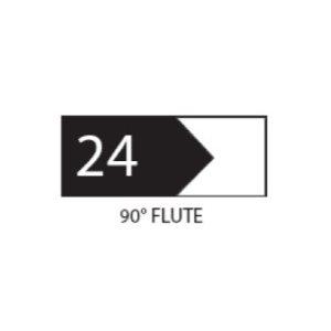"1"" THICK COROB SHAPER CUTTER (90 DEG FLUTE)"