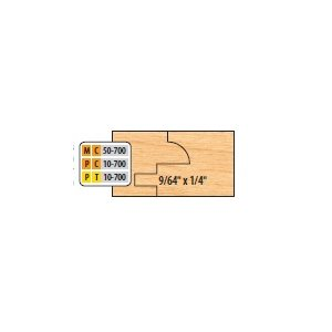 """3 / 4"""" BORE 2 PC GLASS OPTION REPL GROOVERS FOR COPE & PATTERN SETS- 9 / 64 X 1 / 4"""" W / EASED EDGE"""
