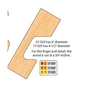 "3 / 4"" BORE CARBIDE DOOR EDGE DETAIL ''C-PULLS"