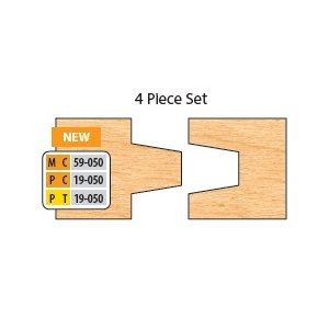 "3 / 4"" BORE 4 PC WEDGE TONGUE & GROOVE SET"